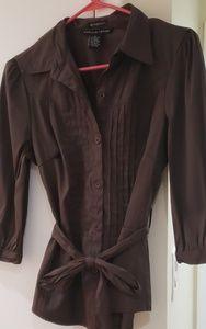Ladies brown tunic top